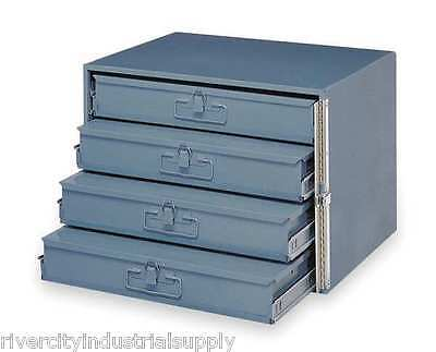 METAL 24 HOLE STORAGE TRAY / CABINET AND SLIDE RACK WITH FOUR DRAWERS WITH LOCK