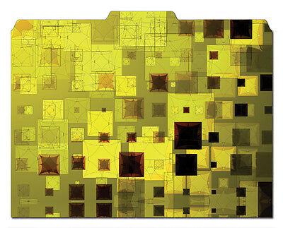 File-n Style Designer Folders - Squares - Cool School Studios - Set Of 12