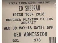 ED SHEERAN ticket BOUCHER £80