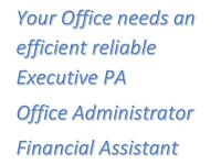Office Manager/ Administration/ Executive PA/ Finance Assistant