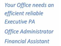 Executive PA Office Manager to help organise your workplace