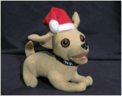 vintage original 1998 Christmas Yo Quiero Taco Bell Talking Chihuahua Dog