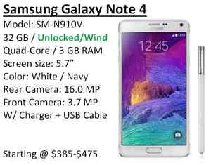 Samsung Galaxy Note 4 - Work for WIND network! Great Condition!