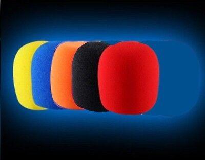 5 X  High Quality Microphone Windscreen Foam Mic Cover Extra Thick (Mic Foam)