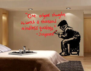 Banksy Wall Decal Sticker Vinyl Street Art Graffiti Bedroom Kitchen Decor Rat