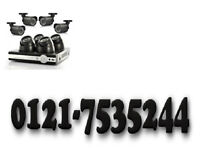 4 x cctv camera system hq hd ahd