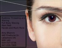 Eyebrow Threading and Waxing by Amy
