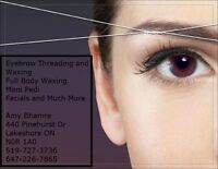 ***THREADING AND WAXING SERVICES BY AMY***