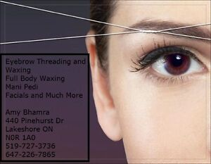 *******THREADING AND WAXING SERVICES BY AMY********