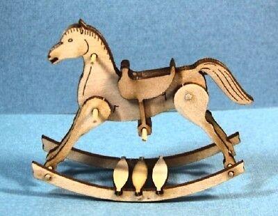 Dollhouse Miniature Rocking Horse Kit - 1:12 Scale