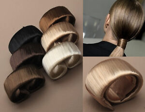 IMITATION-HAIR-SELF-WRAPPING-PONYTAIL-RING-BLONDE-BROWN-WOMENS-ACCESSORIES