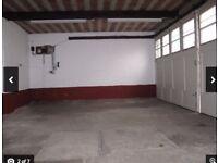 Versatile large garage storage parking unit in Kent, near London,with inspection pit,power,drainage
