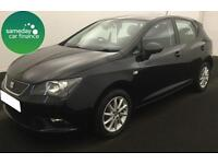 £122.18 PER MONTH BLACK 2012 SEAT IBIZA 1.2 TDI CR ECOMOTIVE S 5 DOOR DIESEL