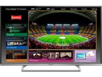 "Panasonic Viera 50"" Smart Led Full Hd Ultra Razor Slimline Tv Internet Freeview New Condition"