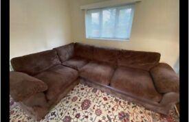 Harvey's cord corner sofa . Delivery