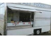 Catering trailer, catering van, snack van, burger van, chip van, chip trailer