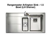 5 Rangemaster Arlington Sink - 1.5 Bowl 5 LH Drainer Brand New For Sale