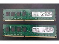 Crucial 4GBx2 DDR3 1600