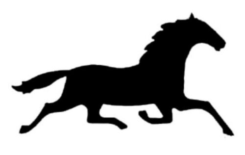 Trotting Pacing Standardbred Horse Equine Window Decal -Repositionable Sticker