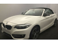 White BMW 220 Convertible 2.0TD Auto 2016 d M Sport FROM £88 PER WEEK!