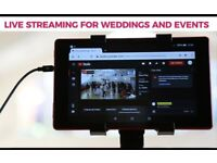 **£399** Live Streaming Video Services for Weddings- Engagements- Events - Funerals - Conferences