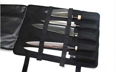 "BIGSALE 5-Pocket 18.5"" Portable Knife Carry Case Bag Folded with a Grip NEW"