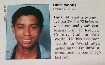 Tiger Woods Rookie Sports Illustrated mention 1990 (not SI For Kids 1996 card)