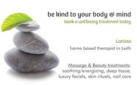 qualified massage and beauty therapist with 6 years experience