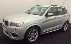Silver BMW X3 d M Sport 2012 Sport Se X drive 184 bhp FROM £83 PER WEEK!
