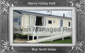 MARINERS: MARINE HOLIDAY PARK, RHYL, NORTH WALES: SLEEPS 8 MAX, DOG-FRIENDLY