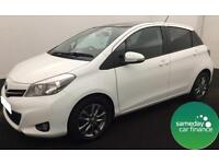 £178.48 PER MONTH WHITE 2014 TOYOTA YARIS 1.33 VVT-i ICON + 5 DOOR PETROL MANUAL