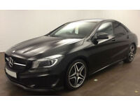 BLACK MERCEDES-BENZ CLA 220 200 180 CDI AMG LINE SPORT AUTO FROM £109 PER WEEK!