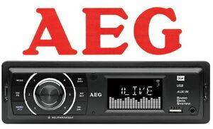 AEG Autoradio+USB-Port+SD/MMC-Card-Slot RDS-Radio UKW-Tuner PLL Equalizer AR4027