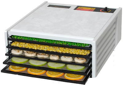 Excalibur 3500 Deluxe Food Dehydrator, 5 Trays, White, 2 Free Books -