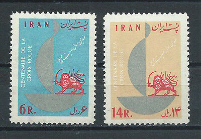 IRAN , RED CROSS , 1963 , SET OF 2  ,  PERF , MNH