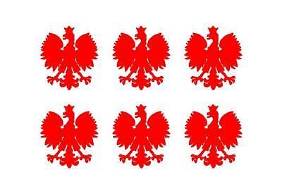 Small Polish - Small Polish Eagle set of 6 Vinyl Decals Phone Polska Eagle Stickers Sheet