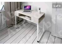 Computer PC Table Home Storage Shelf Office Furniture Desk Light Grey - Brand New