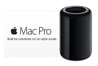 NEW APPLE MAC PRO 12-CORE 2.7GHZ 4TB PCIe FLASH 128GB RAM DUAL D700 AMD FIREPRO