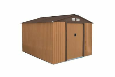 Bentley 8ft x 10ft Metal Garden Shed With Floor Foundation - customer returned