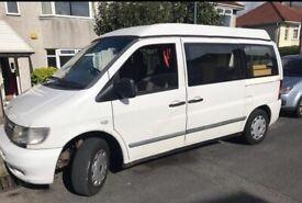 1998 Mercedes Vito 4 Berth Reimo Pop Top Camper Van - Genuine 'Dethleffs' Conversion Genuine Bargain