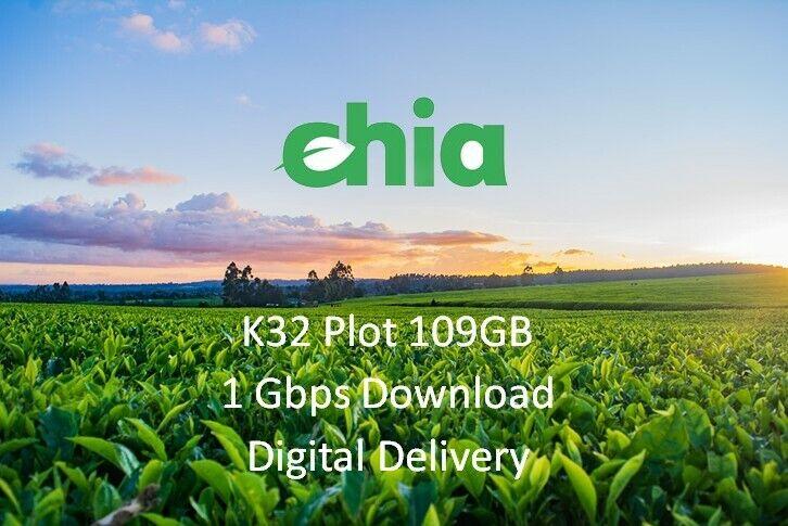 Chia Plotting Service K32 Chia Plots (1 Gbps Fast Download)