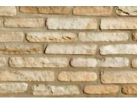 Bradstone, Natural Sandstone Walling Fossil Buff Mixed - 7 packs of 285 Blocks