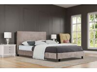 Double (4'6) Doe Upholstered Bed Frame selling at £80