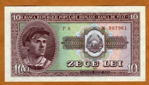 Romania, 10 Lei, 1952, P-88a UNC > rare in UNC
