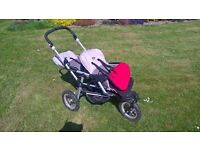 Jane double buggy pram - three wheeler