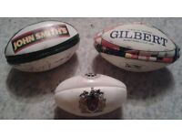 3 x mini rugby balls, collectors - RWC, Wigan - price for the 3 - selling other items
