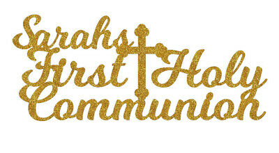 First Communion Cake (Personalised First Holy Communion Cake Topper Any Name Decoration)