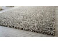Extra Large very soft high pile silver grey rug in excellent condition