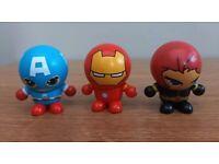 Mini marvel figures with interchangeable heads
