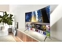 "Samsung 43"" SUHD 4k curved LED Tv wi-fi smart Boxed warranty Free Delivery RRP£750"